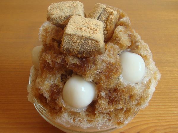 黒糖白玉+黒糖わらび餅